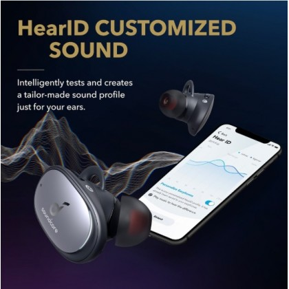 AnkercSoundcore Liberty 2 Pro True Wireless Earbuds with Astria Coaxial Acoustic Architecture, in-Ear Studio Performance, 8-Hour Playtime, HearID Personalized EQ, Wireless Charging