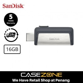 SanDisk Ultra Dual Flash Drive 16GB Type-C OTG USB 3.1 Flash Drive for Android Smartphone Computers & Tablets