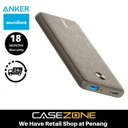 Anker (A1231)  PowerCore III Sense 10K Winter Sage, 10000mAh Portable Charger USB-C Power Delivery (18W) Power Bank
